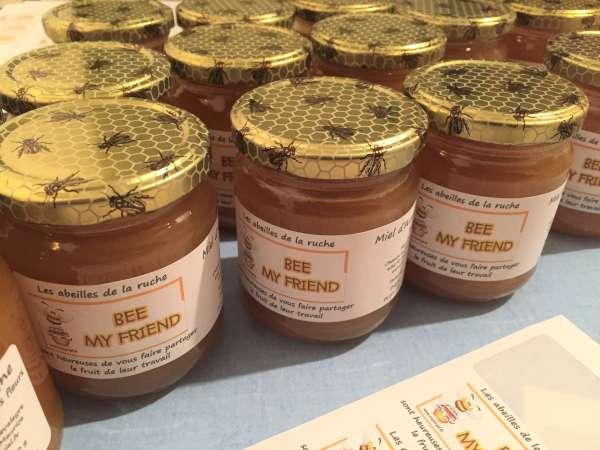 Pots de miel récompense parrainer une ruche